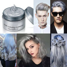 Grey Silver Unisex DIY Wax Cream Temporary Hair Dye Colour Women Men Costume Bt3