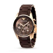 Brand New 43mm Case Emporio Armani AR5890 Sport Brown Rose Gold Men's Gent Watch