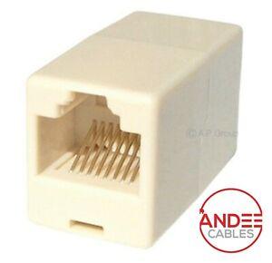 RJ45 Ethernet Coupler Network Cable Joiner Straight Extender Adapter LAN Lot