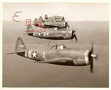 WWII 16X20 ACTION  PHOTOGRAPH OF 86TH FIGHTER GROUP P-47 IN FLIGHT FORMATION