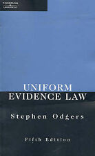 Uniform Evidence Law by Stephen Odgers (Paperback, 2002)