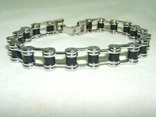 Awesome Brand New Biker Chain Link Stainless Steel Bracelet!  LOOK!! 33.3 GRAMS!