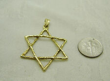 Gold on silver, VERMEIL STAR OF DAVID Handmade PENDANT G16-V