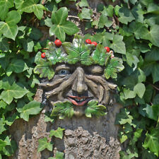 Tree Ent Face Leaf Plaque Wall Garden Ornament Greenman Myth Root Berry 80603