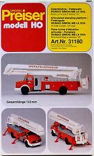 Preiser 31180 – Bausatz Gelenkbühne-Feuerwehr WUMAG-SIMON/MB LA 1924