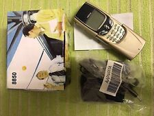 New Condition NOKIA 8850( Unlocked )GOLD MOBILE PHONE - RARE CLASSIC VINTAGE
