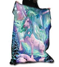 AURORA UNICORN Fleece Blanket / Throw 147cm x 147cm by DAVID PENFOUND