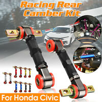 2x Adjustable Racing Rear Suspension Camber Control Arms Kit For Honda Civic NEW