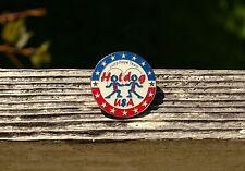 Jump Rope Team Hotdog USA Stars Red White Blue Metal & Enamel Lapel Pin Pinback