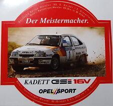 Aufkleber OPEL SPORT KADETT GSi 16V Rallye-DM Haider 1989 Motorsport Sticker