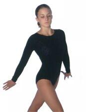 Ten.O Gymnastics Hot Pink Crushed Velvet Long Sleeve Leotard Size Adult Xs