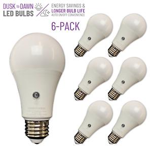 BRIGHTLIVING 8 Watt Dusk to Dawn LED Light Bulbs, Daylight, 6-Pack