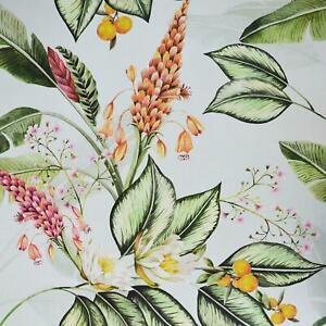 Belgravia Tropical Paradise Garden Floral Leaf Fruit Cream Green Wallpaper 6602