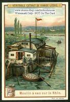 River Current Grinding Mill  Mulin A Eau Rhein Germany c1905 Trade Ad Card