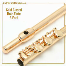 Flute - Gold Lacquer  with B Footjoint - Masterpiece - 12 Month Warranty
