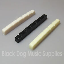 Guitar top nut 42mm x 3.5mm 6 string in choice of black, white or ivory