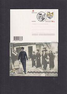 Portugal 2016 Lisbon Municipal Police 125th Anniv pict pre-stamped postcard FDC