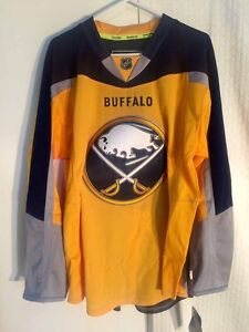 Reebok Authentic NHL Jersey Buffalo Sabres Team Yellow Alt 3rd sz 52