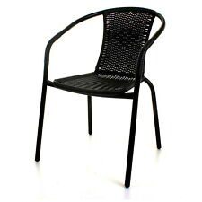 Wicker Bistro Chairs Glass Round Square Tables Outdoor Garden Patio Furniture