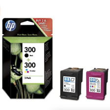 HP 300 Multipac Cartuccia Originale Nero Black Colore Tricromia (gar.term->est.)