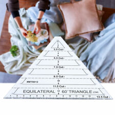 Patchwork Ruler Triangle Equilateral 60 Degree Quilting Ruler Accessories Craft
