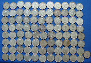 """*NICE LOT (89) ASSORTED DATE CANADA FIFTY CENTS """"ALL 80% SILVER"""" - $44.50 FACE*"""