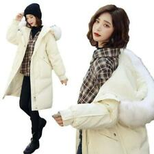 Women Down Coat Long Jacket Hooded Fur Collar Warm Snow Parkas Winter Wen05