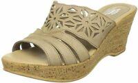 Spring Step Dora Women's Beige Leather Platform Slide Sandal EU 38 - EUC