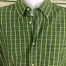 Mens Timber Creek by Wrangler Green plaid Short Sleeve Button Down Shirt XL C12