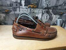 M&S Blue Harbour Men's Brown Leather Boat Deck Shoes Size 8.