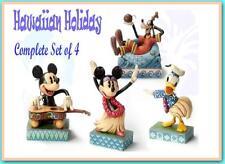 Jim Shore Mickey Minnie Donald Goofy Hawaiian Holiday set 4 Disney Traditions