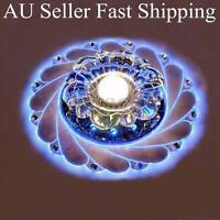 AU Modern Crystal LED Ceiling Blue Light Lamp Lighting Fashion Chandelier Home