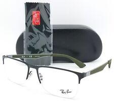 NEW RayBan RX Prescription Frame RX6335 3010 56 Black Green AUTHENTIC 6335 NoRim
