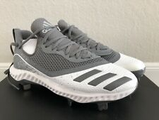 Adidas Men's Icon V Bounce Baseball Cleats Sz 9.5 Spike Shoes Gray White G28250