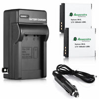 2X NB-6LH NB-6L Battery + Charger For Canon Powershot SX510 610 710 SX700 HS D10