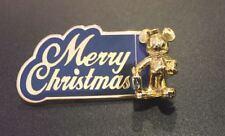 Disney Tokyo Disneyland Ambassador Hotel Merry Christmas Mickey Mouse 3D Pin