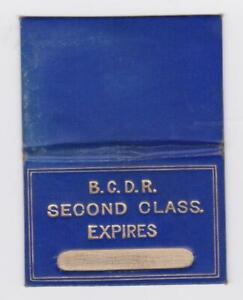 Belfast & County Down Railway LEATHERETTE SEASON Ticket BELFAST