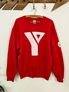YMCA Sweatshirt, Red, Adults M, Camp Staff Back Print, Baggy Jumper, Graphic