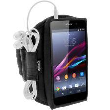 Schwarz Sport Laufen Armband für Sony Xperia Z3 D6603 & Z3+ E6553 Fitnessstudio Jogging
