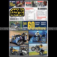 MOTO REVUE N°3468 YAMAHA XV 1100 VIRAGO XS 650 ★ GUIDES MEILLEURES MOTOS 2001 ★