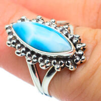 Larimar 925 Sterling Silver Ring Size 6 Ana Co Jewelry R30471F