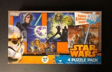 "Jigsaw Puzzle STAR WARS 12 pcs each 5"" x 4.5"" 4  Pack Cardinal S3"