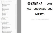 Yamaha mt125 re11 mt125a ABS (re29) motor marco neumáticos manual