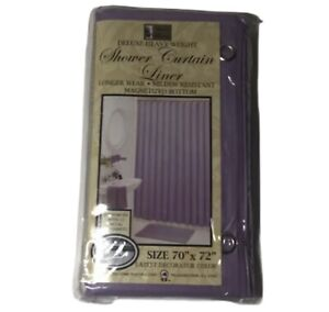 Better Home Deluxe Heavy Weight Shower Curtain LINER 70x72''- LAVENDER