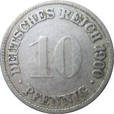 J 13   10 Pfennig Kaiserreich 1900 G in SS   654 165