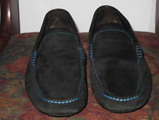 MEN TO BOOT NEW YORK BLACK SUADE LEATHER DRIVING PENNY  LOAFERS SHOES  8