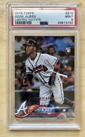 2018 Topps OZZIE ALBIES Limited Edition RC Rookie #276 PSA 9 Atlanta Braves