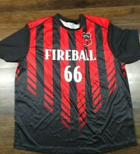 Fireball Whisky Whiskey Soccer Jersey #66 Mens 2Xl Promo Red Black Striped