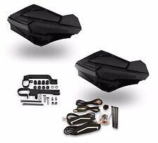 Powermadd Sentinel LED Handguards Guards Black / Black Mount Ski Doo Snowmobile