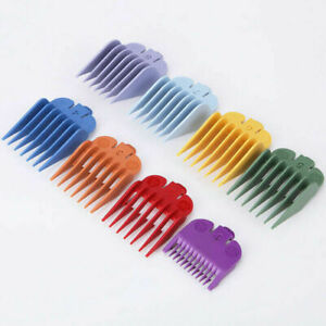 8Pcs Hair Clipper Limit Combs Guide Attachment Cutter Size Replacement For WAHL